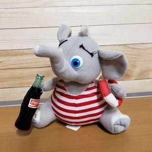 Coca-cola collectable plush elephant Dumbo Disney